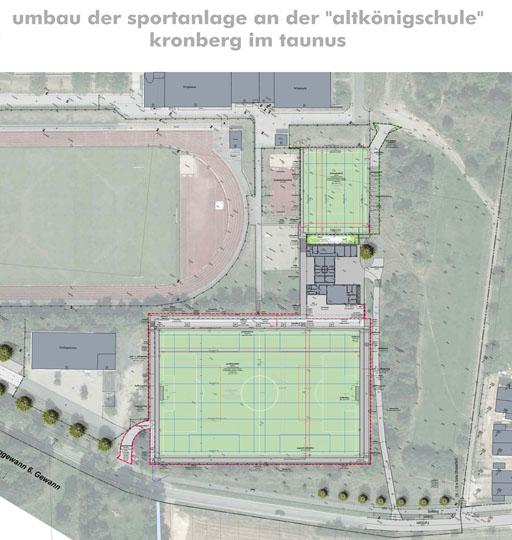 Sportanlage Altkönig Kronberg Plan